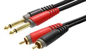 Kabel Cinch – Klinke 6,3 kurz