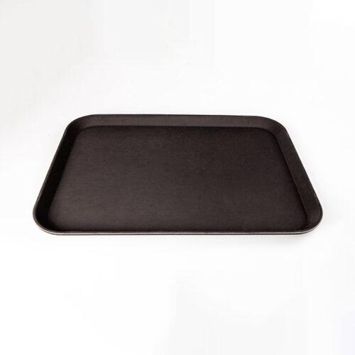 Serviertablett eckig, schwarz